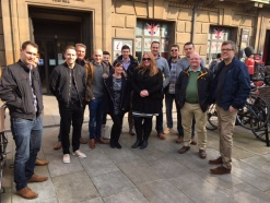 Cambridge office embrace a city tour challenge for their team building event
