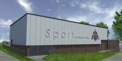 Work begins on brand new £2 million school sports hall