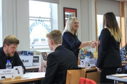 Ingleton Wood conduct mock interviews at local school