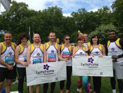 Ingleton Wood Running Team Complete the BUPA London 10k in Aid of Lymphoma Association