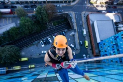 Ingleton Wood's London staff plunge 17 floors… for charity!